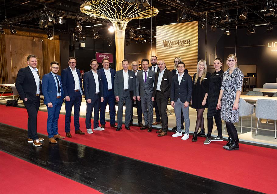 Das WIMMER-Team auf der imm cologne 2020.
