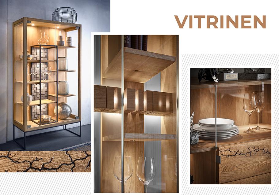 Eine stylische Alternative zum Wohnzimmerschrank: Vitrinen sind in.