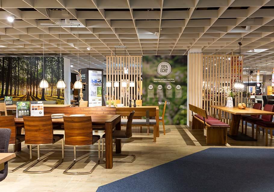 Wimmer Wohnkollektionen: Ausstellung Möbel Inhofer - VIP-Studio.