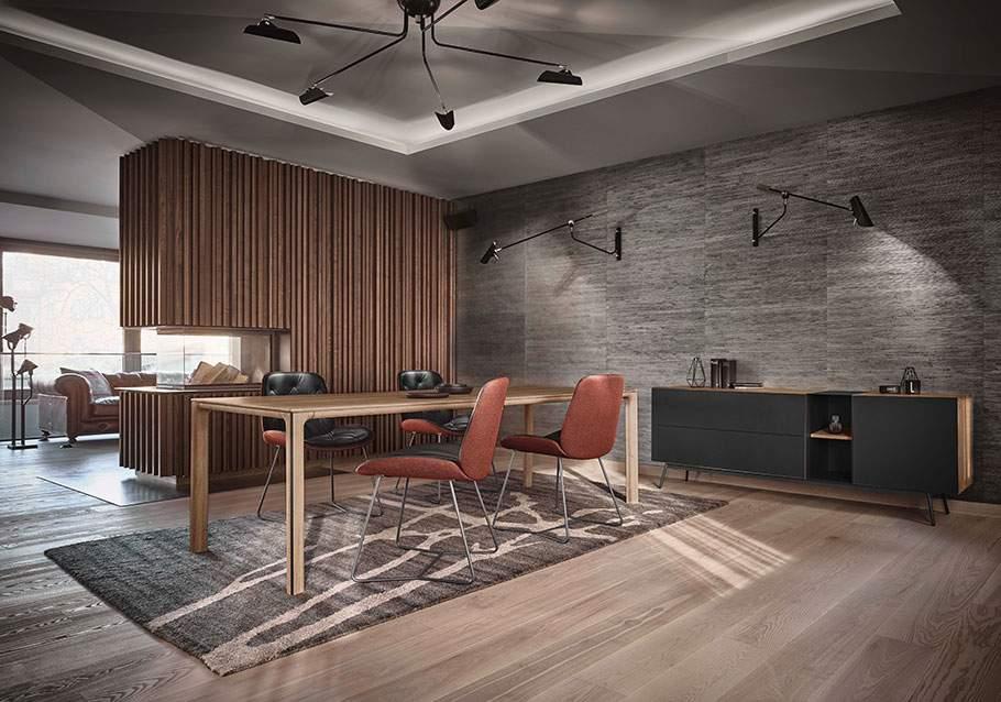 Wimmer Wohnkollektionen: Trendfarbe 2021 - Oxy Fire - Kollektion LINJA
