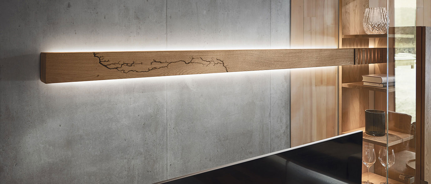 Wimmer Wohnkollektionen: Massivholzmöbel mit individuellen Charakter - Lichtenberg-Verfahren.