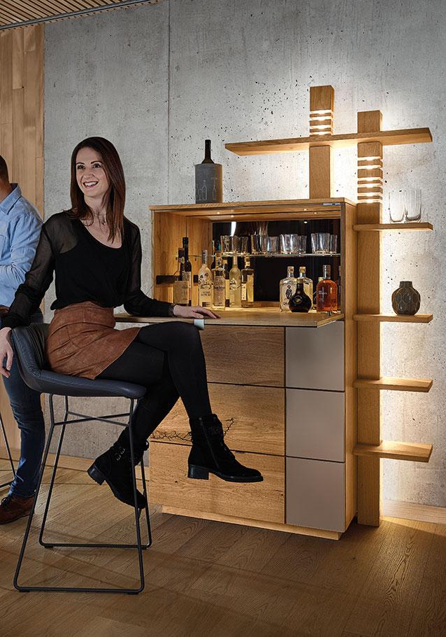 Wimmer Wohnkollektionen: Barschrank aus unserer Massivholz-Kollektion SIGNATURA.