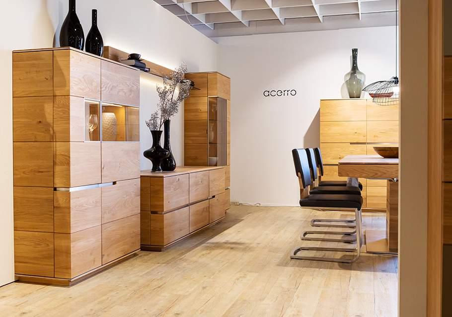 Wimmer Wohnkollektionen: Ausstellung Möbel Inhofer - Kollektion ACERRO.