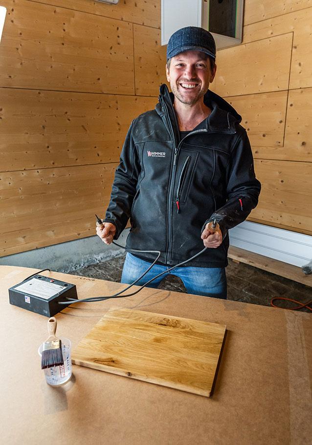 Wimmer Wohnkollektionen: Lichtenberg-Verfahren - nur vom Profi machen lassen