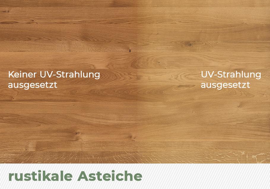 Holzverfärbung durch Sonne - rustikale Ast-Eiche