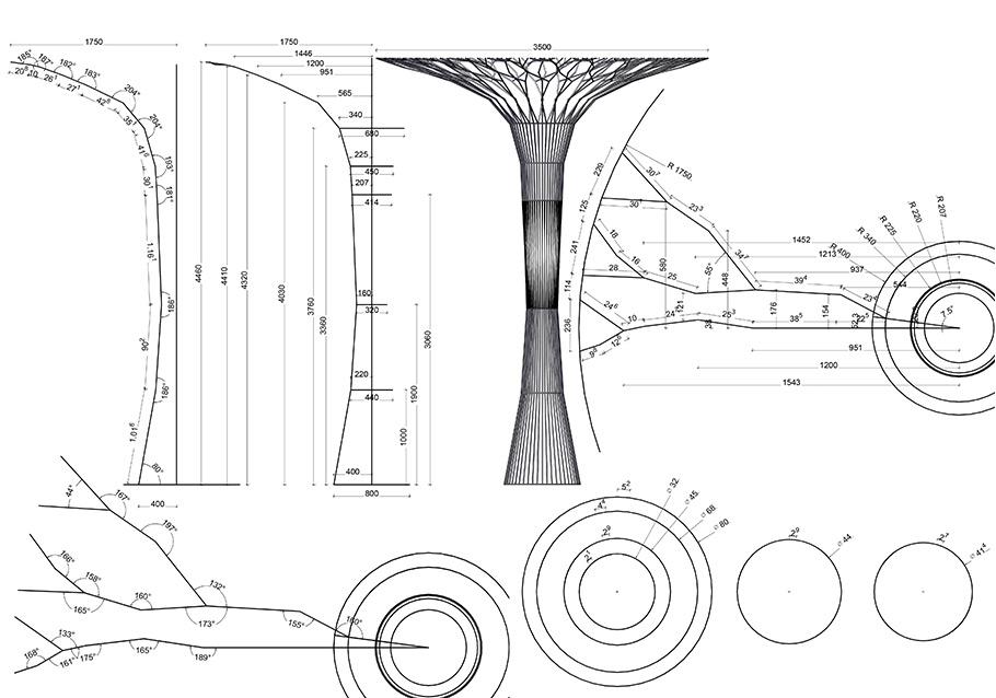 So sah unser LINJA-Baum als Skizze aus.