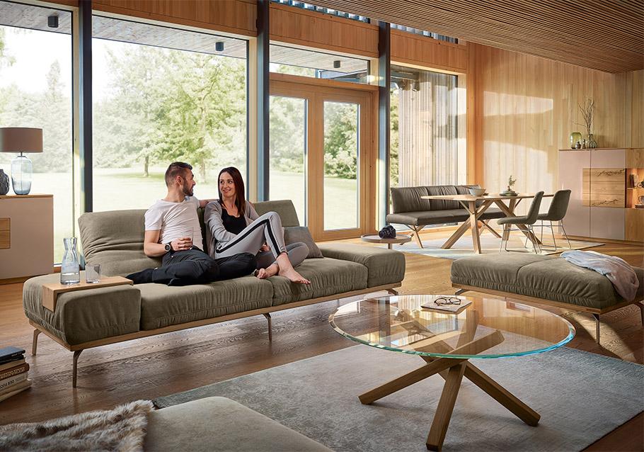 Bei offenen Wohnkonzepten trägt ein einheitlicher Look zum harmonischen Gesamtbild bei - Kollektion Signatura.