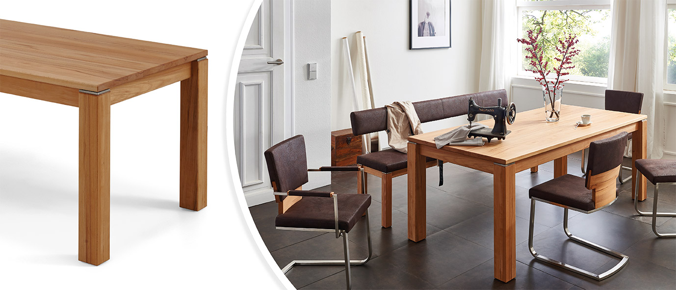 Möbel Trends 2020: Tisch GEOMA aus unserer Kollektion HTNM, gedämpfte Buche