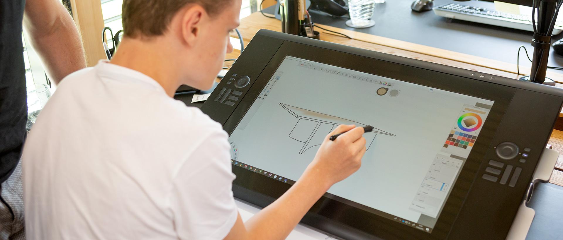 Praktikum im Produktdesign bei Wimmer Wohnkollektionen - eigene Entwürfe ausarbeiten als 3D-Modell