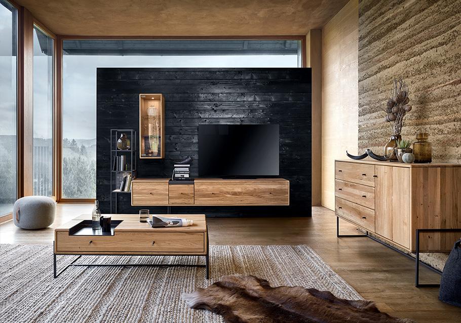 Wimmer Wohnkollektionen: Einrichtungstrends 2019 - Easy living - Wohnwand Kollektion VENCER