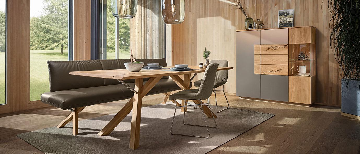 Wimmer Wohnkollektionen: Esszimmermöbel aus Massivholz  - Kollektion SIGNATURA.