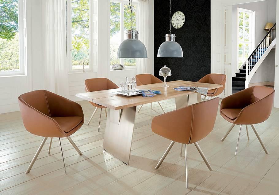 Wimmer Wohnkollektionen - Holztisch Z20 mit Metall - Kollektion ZWEIGL