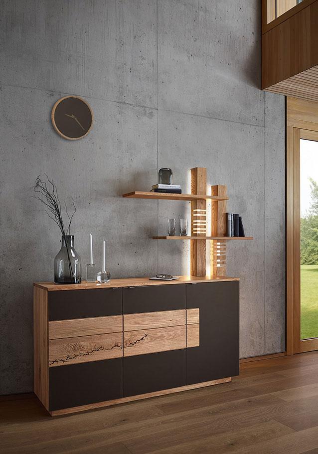 Wimmer Wohnkollektionen: Sideboard mit indirekter Beleuchtung - Kollektion SIGNATURA.