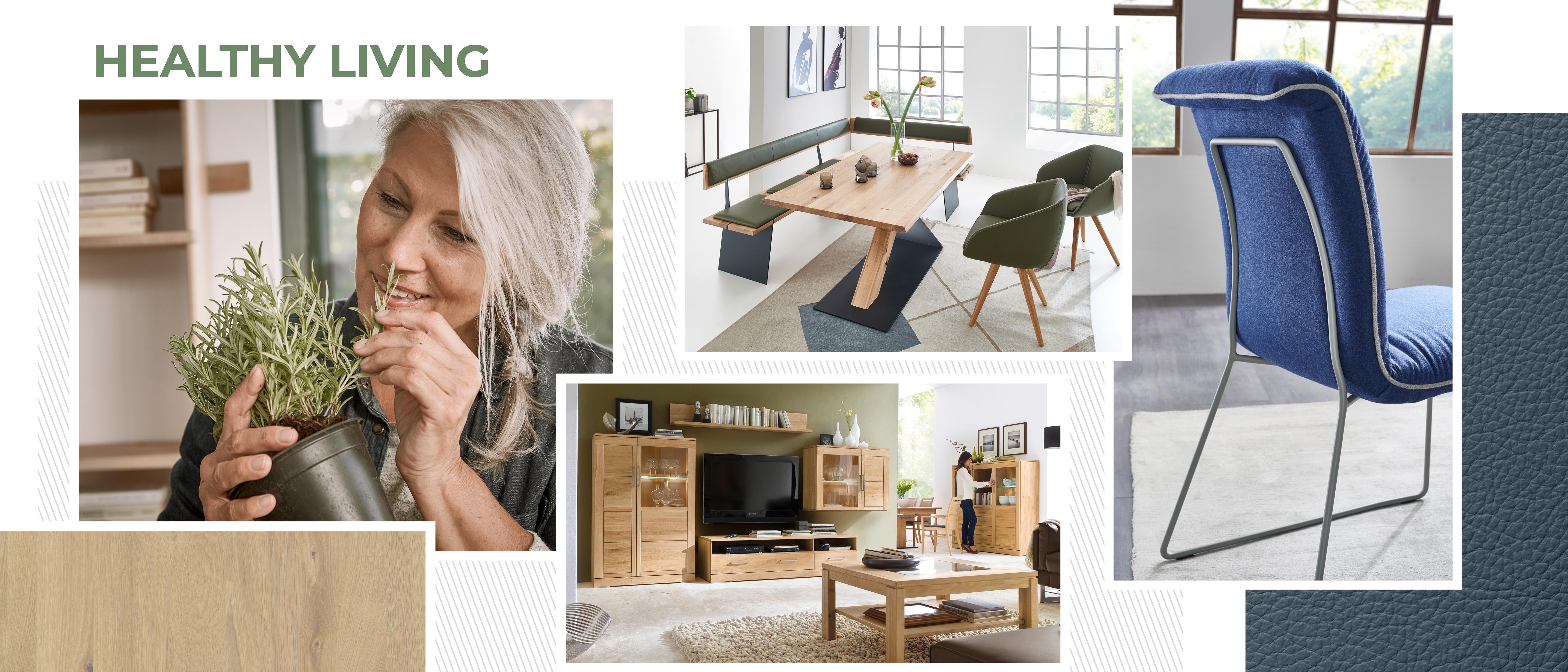 Wimmer Wohnkollektionen: Einrichtungstrends 2019 - Healthy living