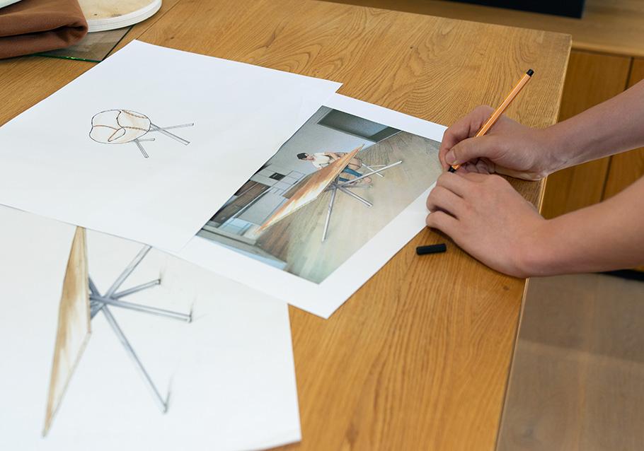 Praktikum im Produktdesign bei Wimmer Wohnkollektionen  - eigene Entwürfe