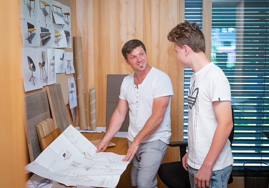 Praktikum im Produktdesign bei Wimmer Wohnkollektionen  - Entwürfe im Team erarbeiten