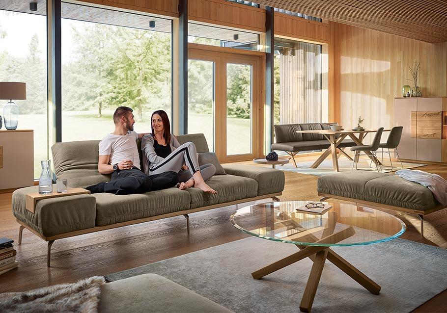 Modern living - mit offenen Wohnkonzepten aus unserer Kollektion SIGNATURA,  rustikale Ast-Eiche bianco