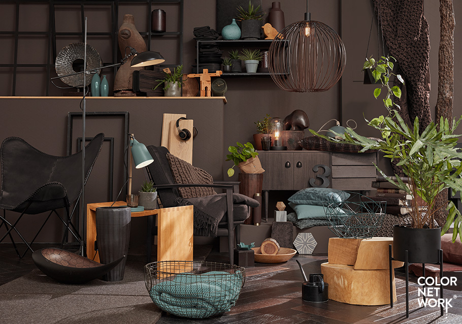 Wimmer Wohnkollektionen: Einrichten im Farbverbund - Kombination mit RAL-Farbe.