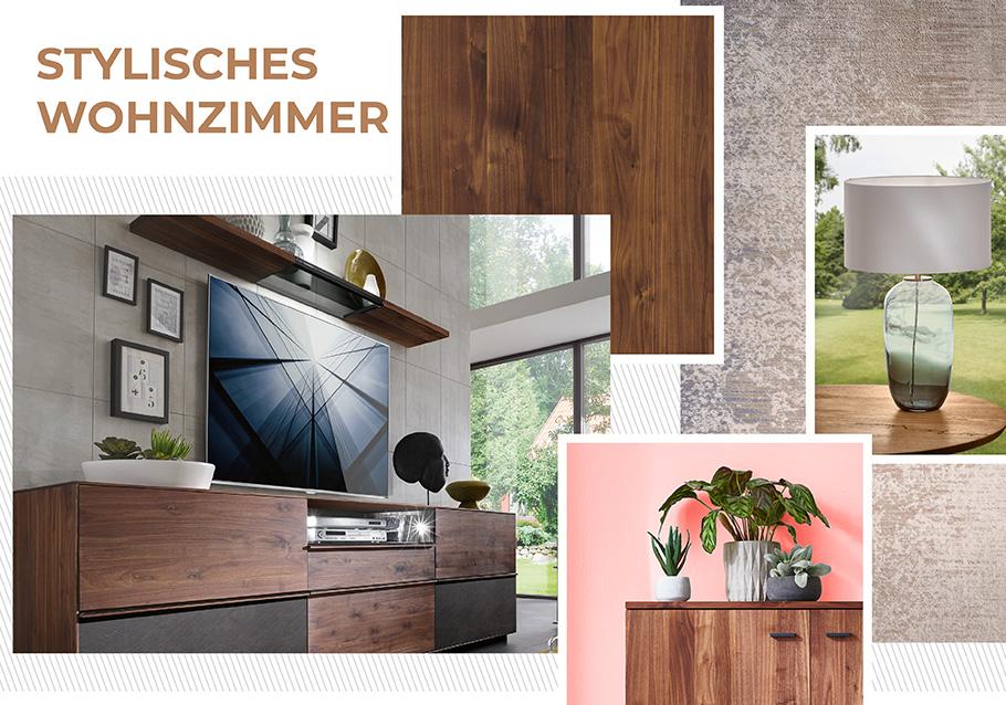 Nussbaum meets LIVING CORAL für ein stylisches Wohnzimmer