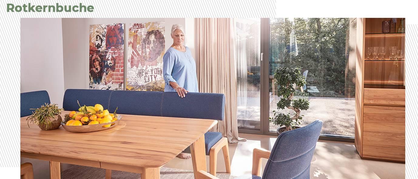 Wimmer Wohnkollektionen: Esszimmer aus Rotkernbuche aus unserer Kollektion NYON