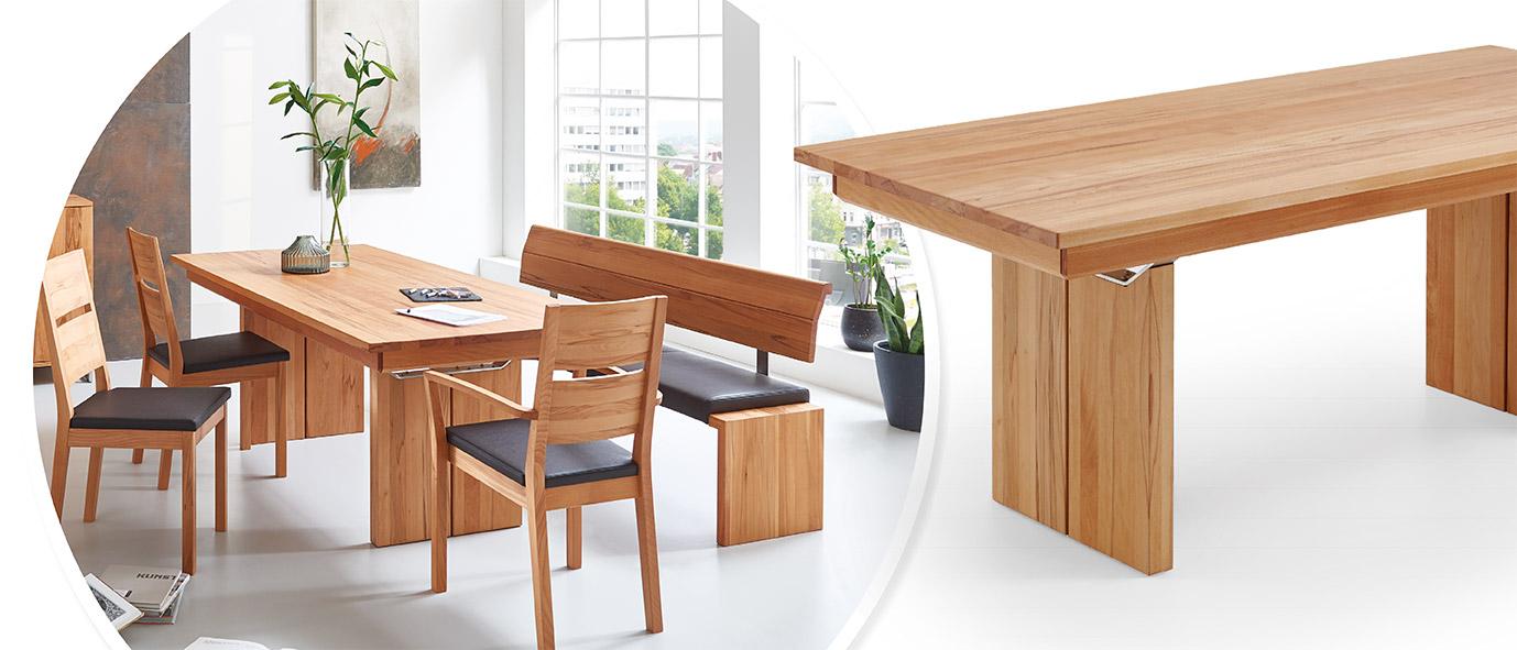 Möbel Trends 2020: Tisch SANO aus unserer Kollektion HTNM, Rotkernbuche