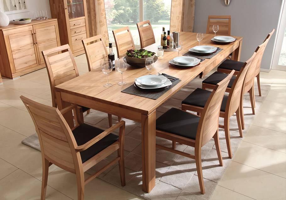 Wimmer Wohnkollektionen - Holztisch und Stühle Kollektion CASERA, Rotkern-Buche