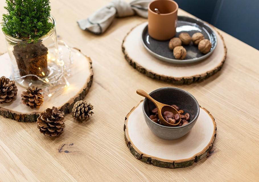 Wimmer Wohnkollektionen: Weihnachtsdeko aus Holz - dekorative Nuss-Schale