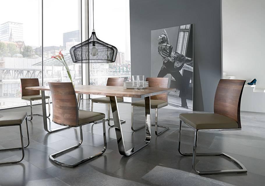 Wimmer Wohnkollektionen - Holztisch mit Metall, Kollektion ZWEIGL Z50, Nussbaum